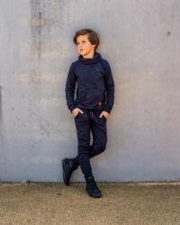 donkerblauwe hoodie jongens kinderkleding
