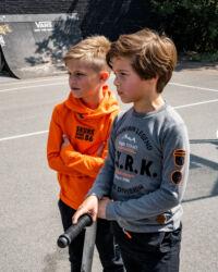grijs t-shirt lange mouwen jongens kinderkleding