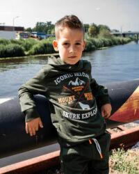 donkergroene hoodie jongens kinderkleding