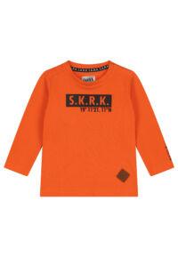 oranje t-shirt met lange mouwen jongens peuter babykleding
