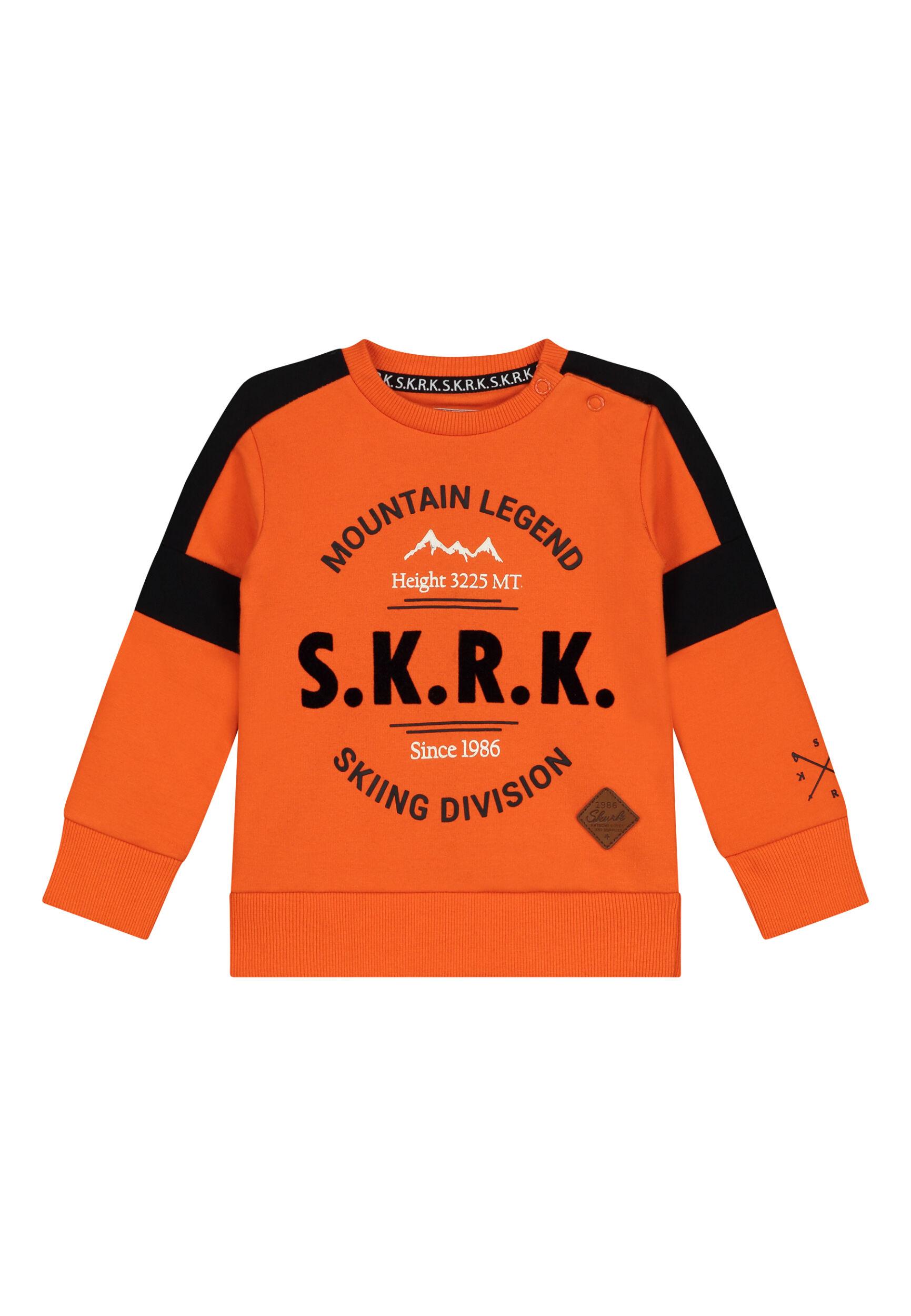 oranje sweater peuter babykleding