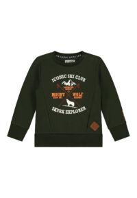 donkergroene sweater jongens mini