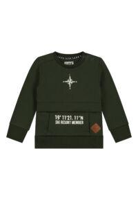 donkergroene sweater mini boys