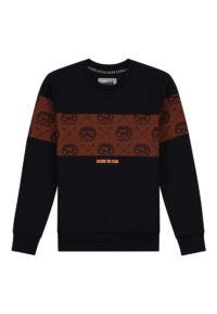 donkerblauwe sweater skurk